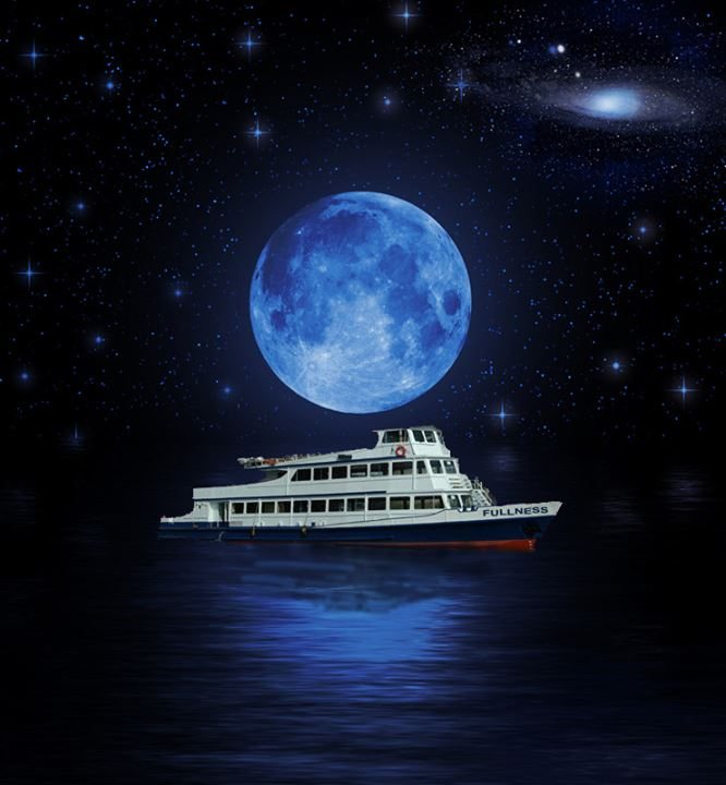 Ra sanchopanza present 39 fullness 39 a full moon boat at for What does the song moon river mean