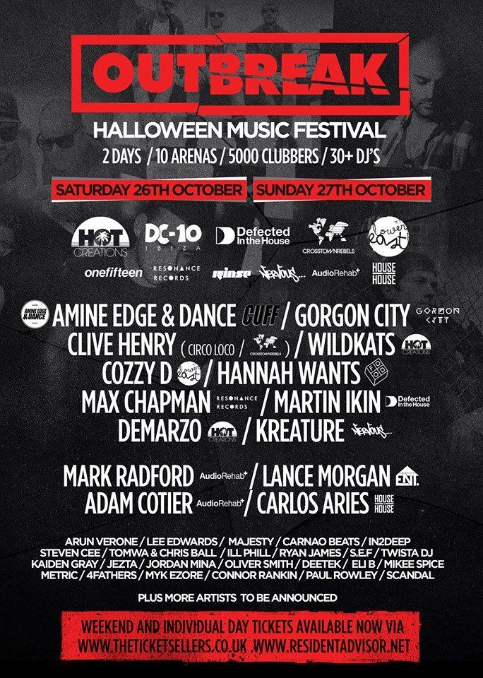 line up - Halloween 2 Music