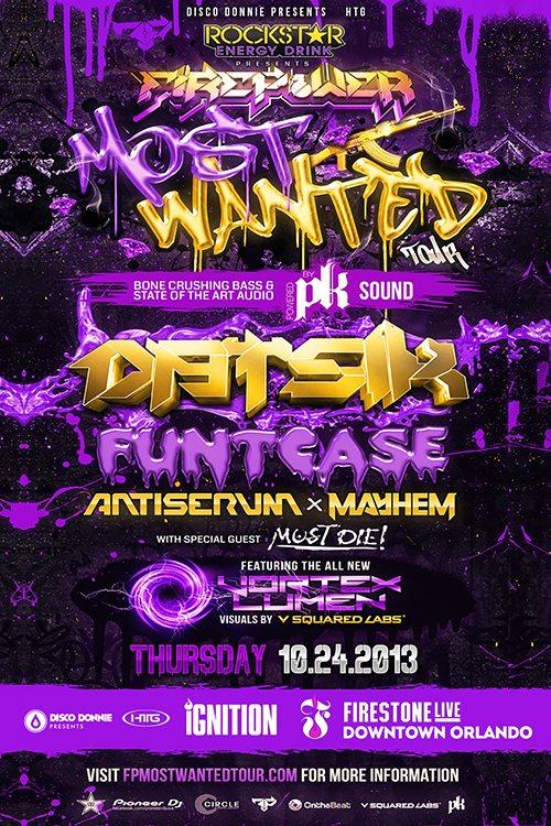 RA: Datsik Most Wanted Tour with Funtcase, Antiserum, Mayhem