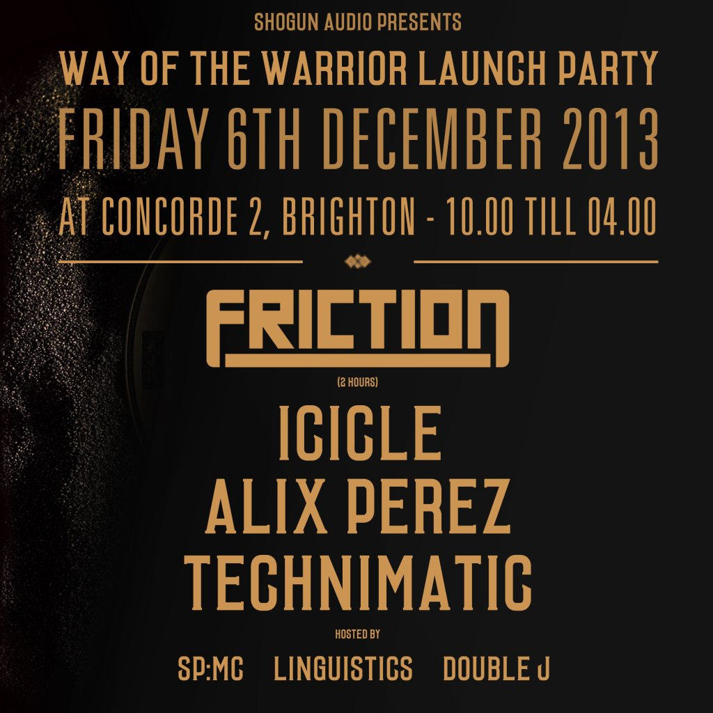 Ra Shogun Audio Way Of The Warrior 2 Brighton Launch Party At 10 Sp Line Up