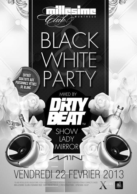 Line up dirty beat black white party