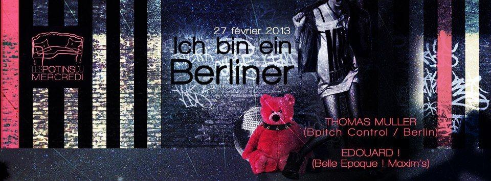 Ra ich bin ein berliner par les potins du mercredi closing fevrier 2013 at le salon 105 - Le salon 105 ...