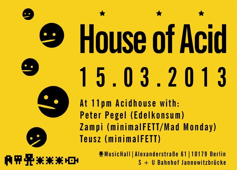 Ra house of acid at music hall berlin 2013 for House of acid
