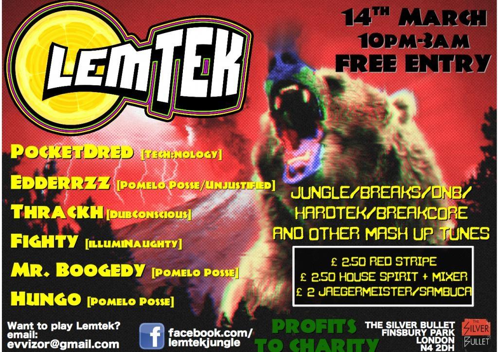 RA: Lemtek March Madness: Jungle, Breaks, Hardtek, Ragga, DNB, Mash