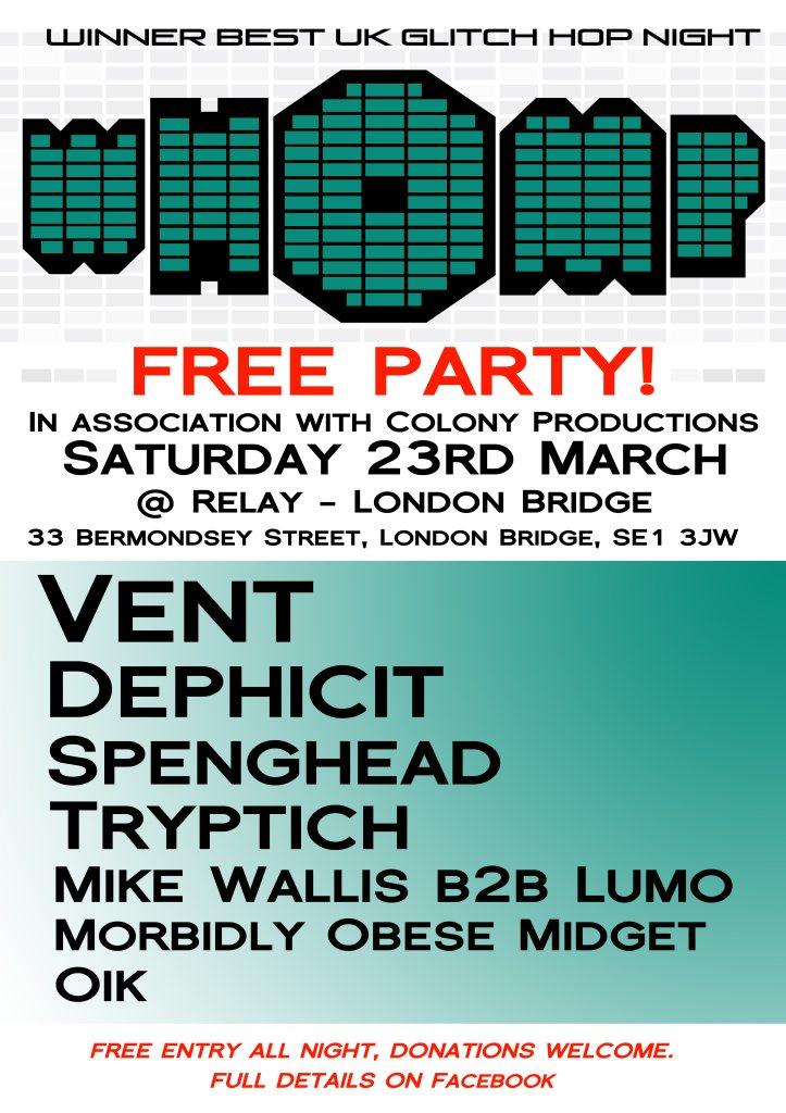 RA: Whomp! Free Party at Relay, London (2013)