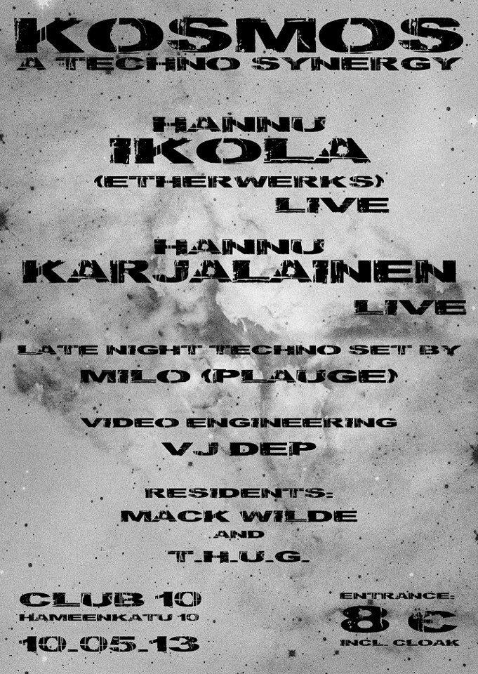RA: Kosmos: A Techno Synergy with Hannu Ikola- Live & Hannu