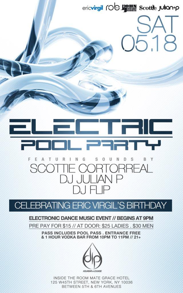 ra electric pool party presents scottie cortorreal julian p dj