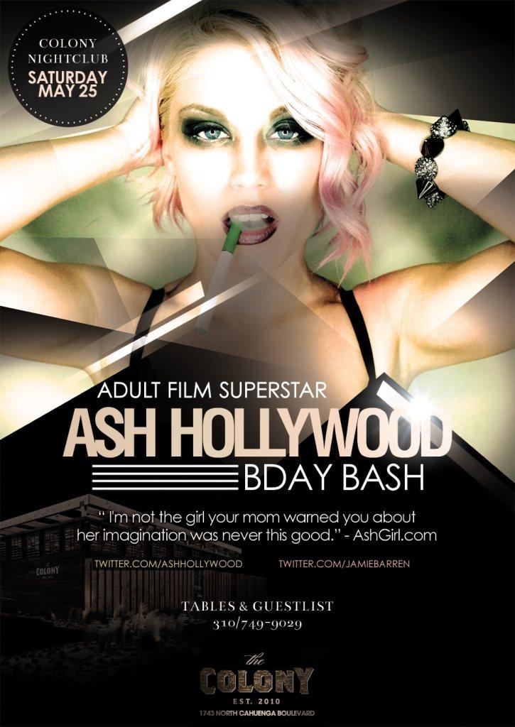 RA: Adult Star Ash Hollywood Birthday Bash at The Colony ...