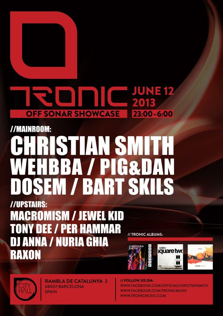 RA Tickets: Tronic Showcase at City Hall, Barcelona
