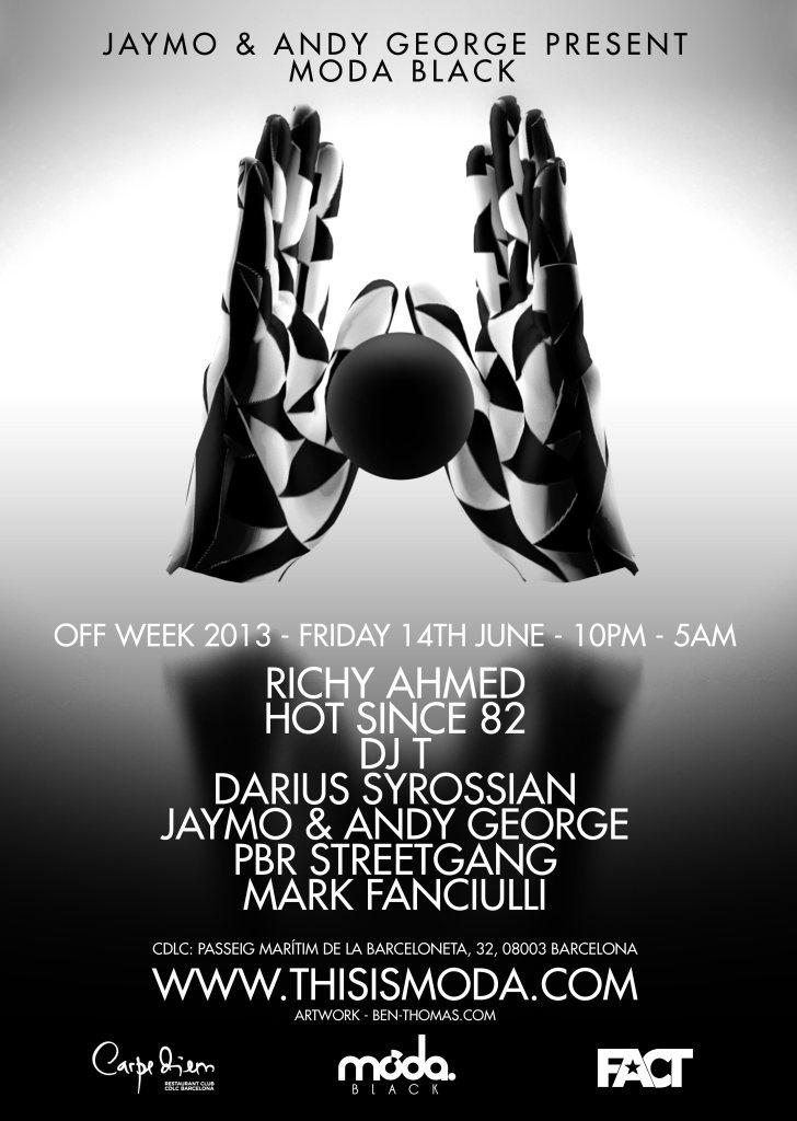 RA: Moda Black Showcase at Carpe Diem Lounge Club, Barcelona (2013)