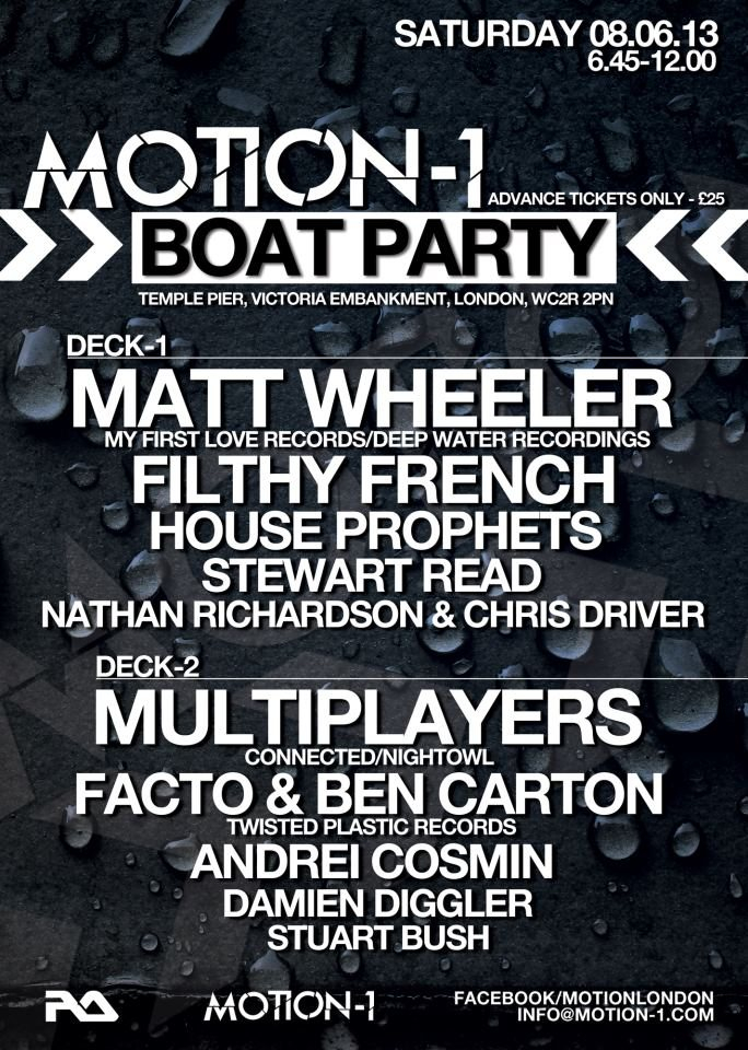 Ra Motion 1 Boat Party At Temple Pier London 2013