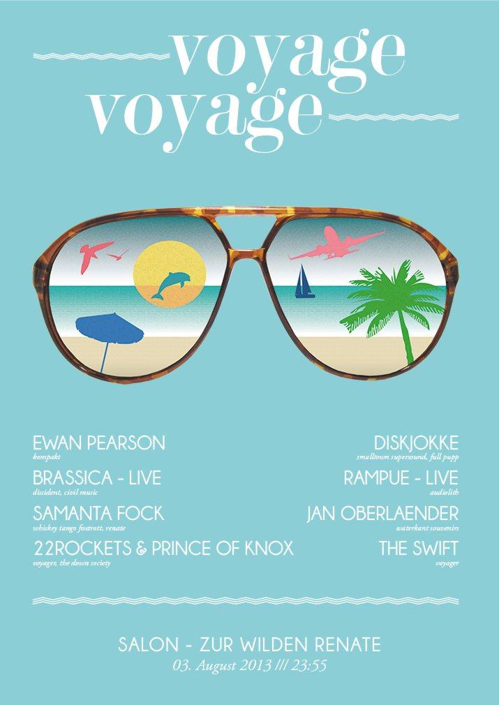 Ra voyage voyage w ewan pearson diskjokke brassica for Salon zur wilden renate