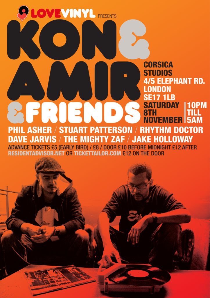 Ra Love Vinyl Present Kon And Amir At Corsica Studios London