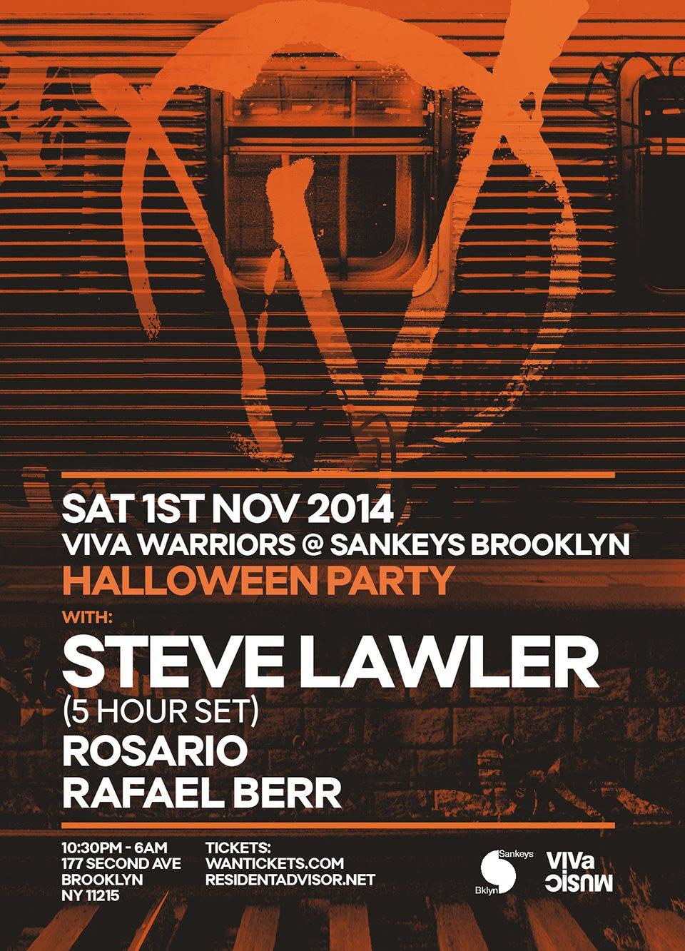 RA: Viva Warriors Halloween Party at Sankeys Brooklyn, New York (2014)