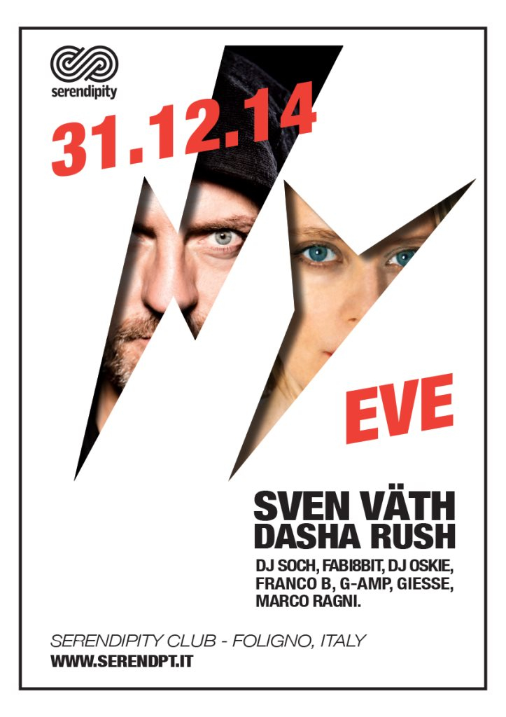 Page 1 | 31/12/2014 | Foligno | NYE with Sven Väth & Dasha Rush at Serendipity. Published by DjMaverix on Sunday, 14 December 2014 in Clubs and Discoteque (Events)
