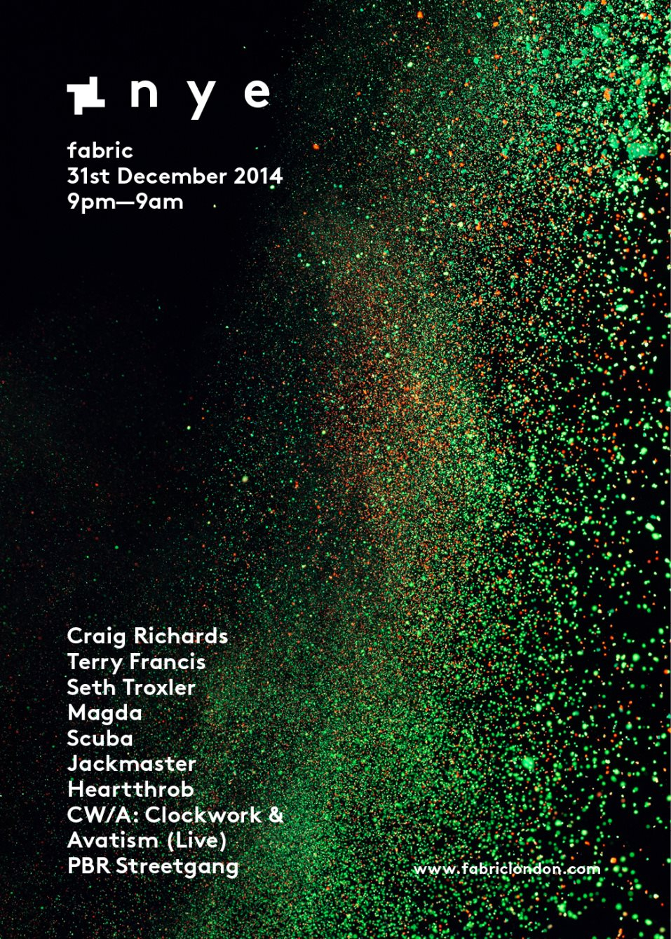 Page 1 | 31/12/2014 | London | Fabric NYE 2014 with Seth Troxler, Scuba, Jackmaster, CW/A... Published by DjMaverix on Friday, 12 December 2014 in Clubs and Discoteque (Events)