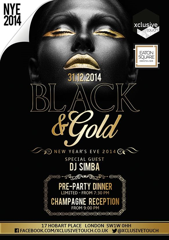 RA Black amp Gold Party New Years Eve 2014 At Eaton Square