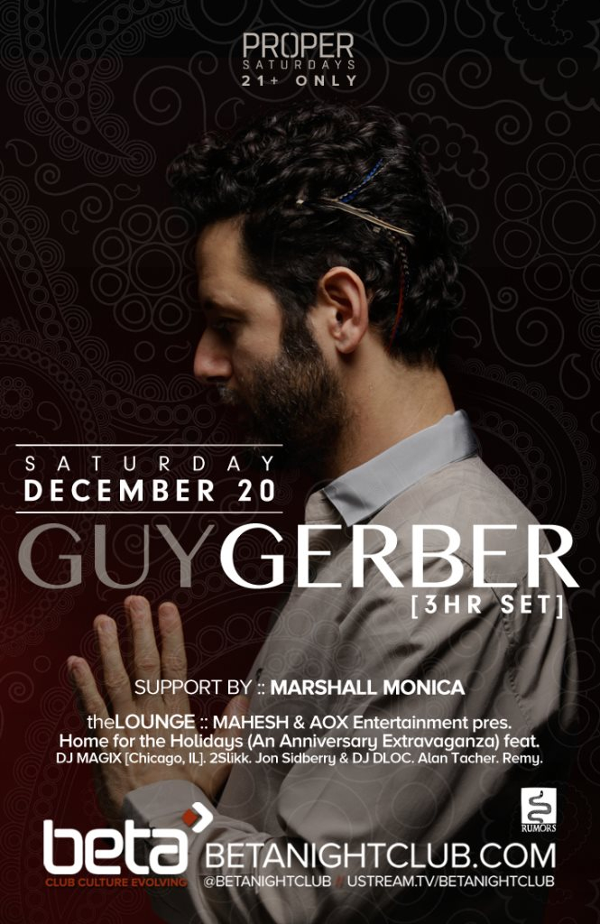Page 1   20/12/2014   Denver   Proper Saturdays feat. Guy Gerber with Marshall Monica at ... Published by DjMaverix on Friday, 19 December 2014 in Clubs and Discoteque (Events)