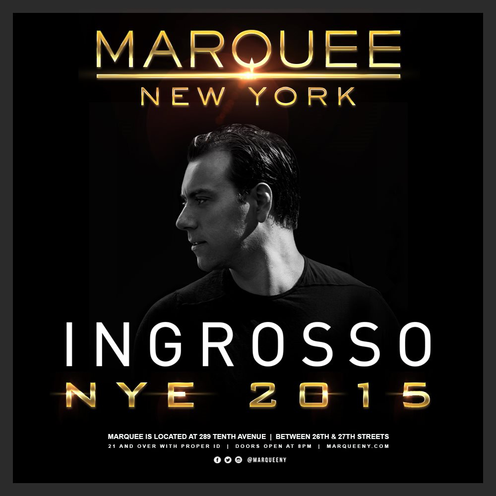 Page 1 | 31/12/2014 | New York | Ingrosso NYE 2015 at Marquee. Topic published by DjMaverix in Clubs and Discoteque (Events).