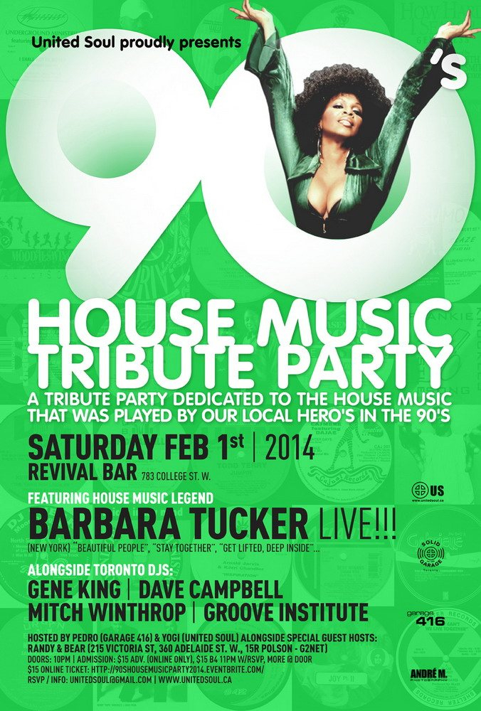 Ra the 90 39 s house music tribute party with barbara tucker for 90s deep house music