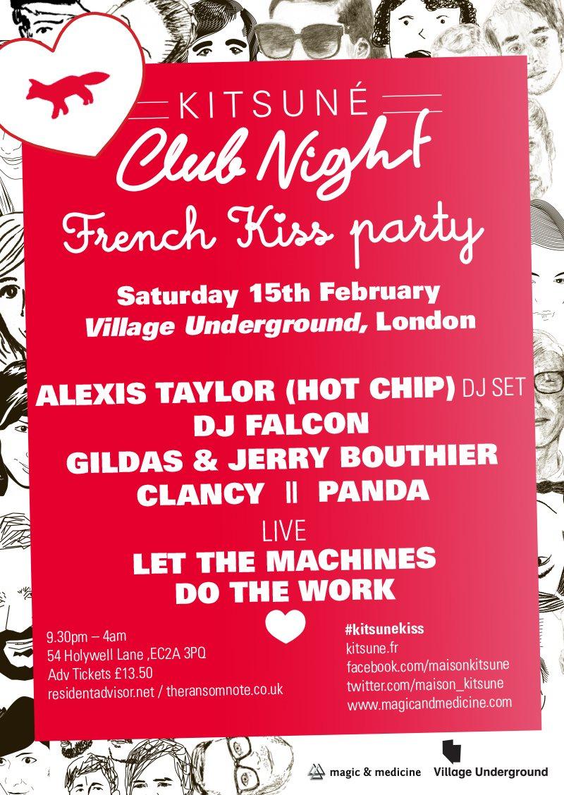 ba1019682eb RA: Kitsune Club Night-Falcon,Alexis Taylor/Hot Chip.Gildas&jerry ...
