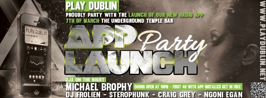 ra play dublin radio iphone and android app launch party at