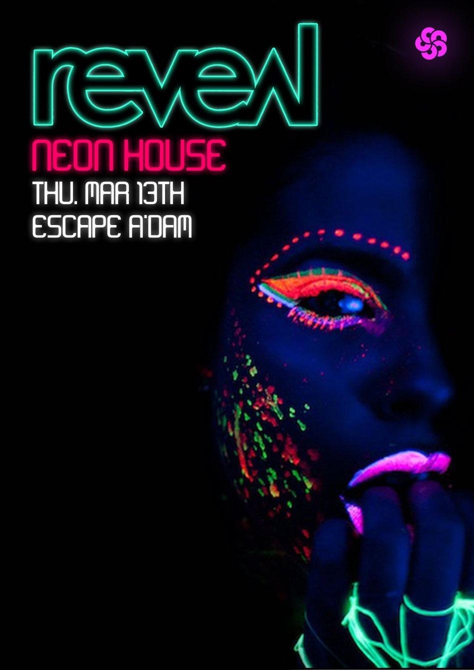 Neon Party Invitation with perfect invitation design