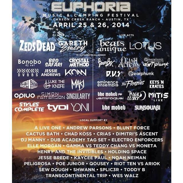 RA: Euphoria Music & Camping Festival at Carson Creek Ranch, Austin