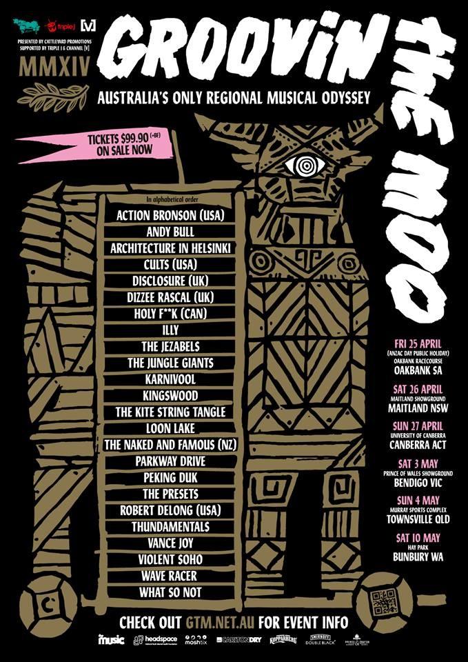 RA: Groovin' The Moo 2014 - Bunbury at Hay Park, Bunbury, Perth (2014)