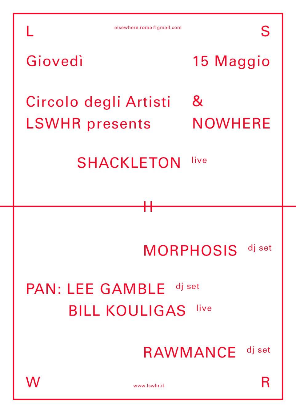 Nowhere Festival a Roma, con Shackleton e Morphosis