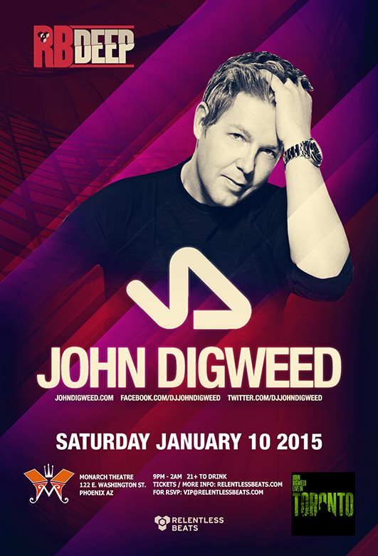 Page 1 | 10/01/2015 | Phoenix | Relentless Beats presents John Digweed at Monarch Theatre... Published by DjMaverix on Friday, 19 December 2014 in Clubs and Discoteque (Events)