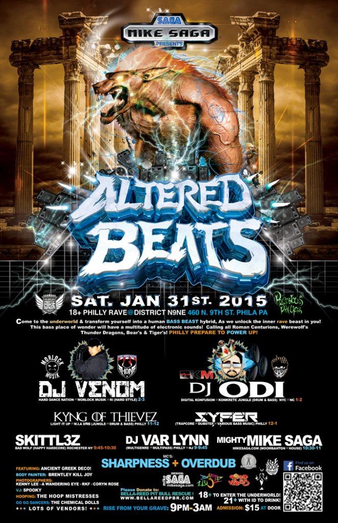 RA: Altered Beats with ODI & DJ Venom at District N9ne, Pennsylvania