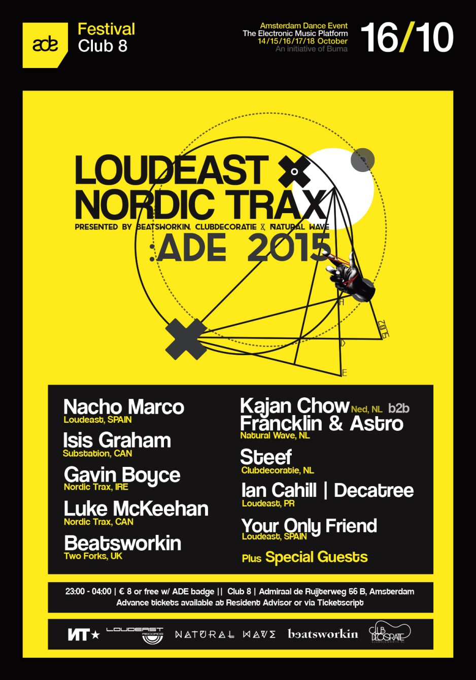 RA: Loudeast X Nordic Trax ADE 2015 at Club 8, Amsterdam (2015)