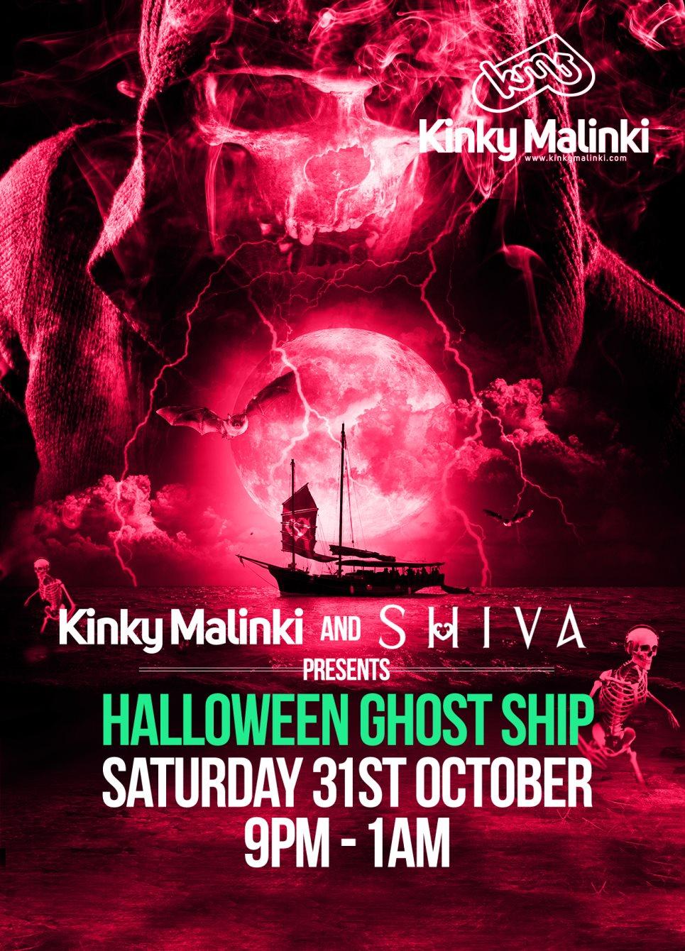 ra: kinky malinki & shiva halloween ghost ship at festival pier
