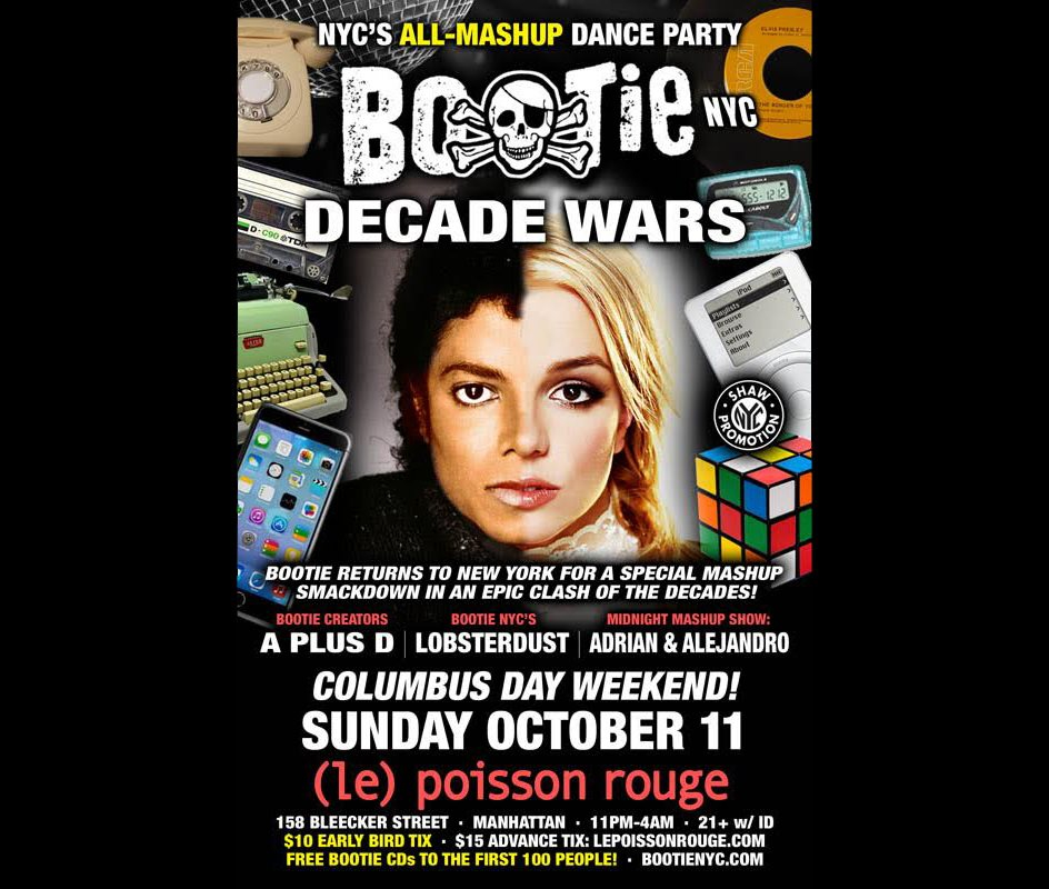 RA: Bootie NYC: Decade Wars! Mashup Dance Party in an Epic