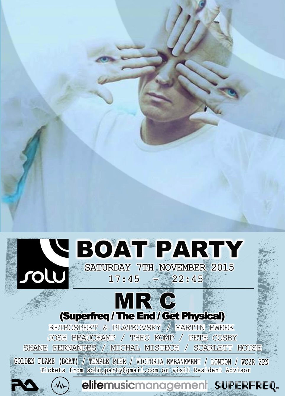 Ra Solu Boat Party With Mr C At Temple Pier London 2015