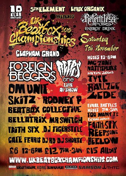 RA: UK Beatbox Championships 2015 - 10 Year Anniversary at Clapham