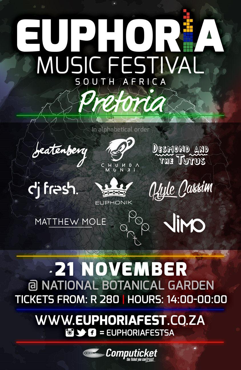 RA: Euphoria Music Festival Pretoria at Pretoria Botanical