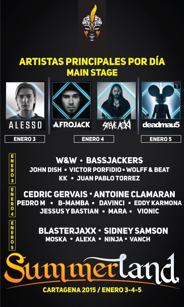 Page 1 | 3/01/2015 | Colombia | Summerland at Cartagena. Published by DjMaverix on Thursday, 11 December 2014 in Events and Festivals (Events)