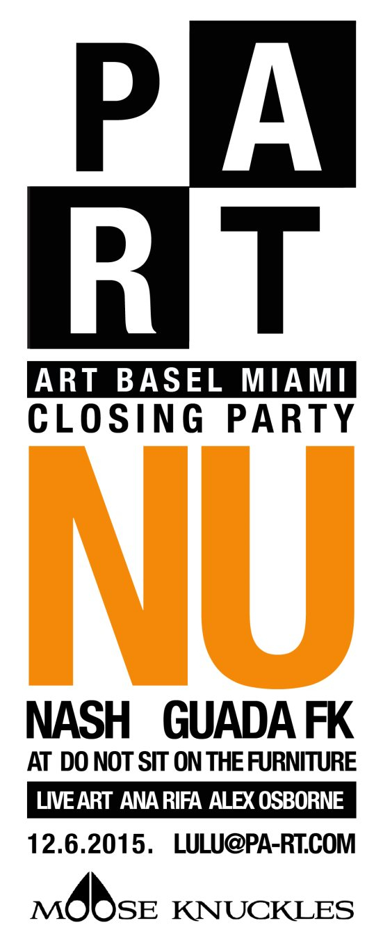 ra part with nu art basel closing party at do not sit on the furniture miami 2015. Black Bedroom Furniture Sets. Home Design Ideas