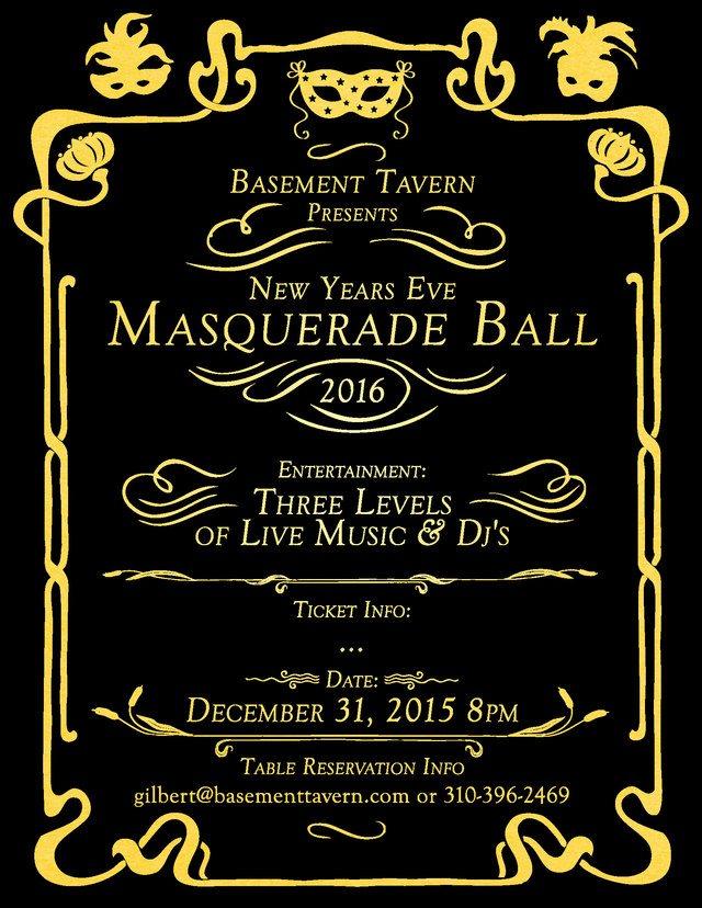 RA: New Years Eve Masquerade Ball 2016 at Basement Tavern ...