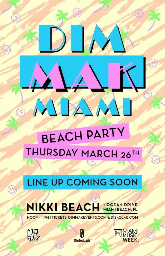 RA Dim Mak Miami Beach Party At Nikki 2015