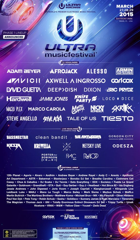 Page 1 | 27/03/2015 | Miami | Ultra 2015 at Bayfront Park. Published by DjMaverix on Thursday, 15 January 2015 in Events and Festivals (Events)
