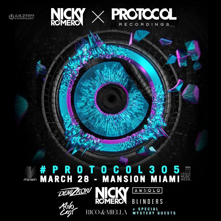RA Nicky Romero Presents Protocol305 At Mansion Nightclub Miami 2015