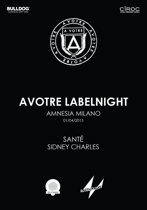 Page 1 | 01/04/2015 | Milano | Avotre Labelnight at Amnesia. Published by DjMaverix on Monday, 30 March 2015 in Clubs and Discoteque (Events)