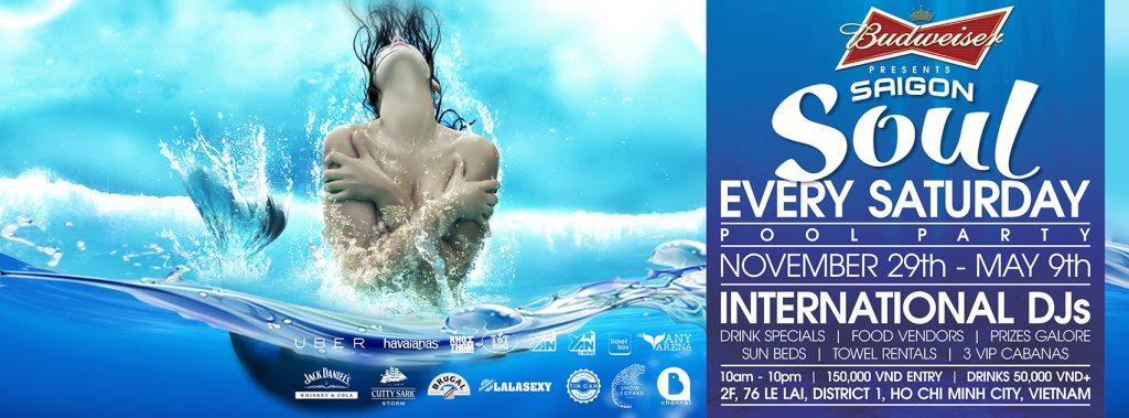 ra saigon soul pool party at splash bar vietnam 2015