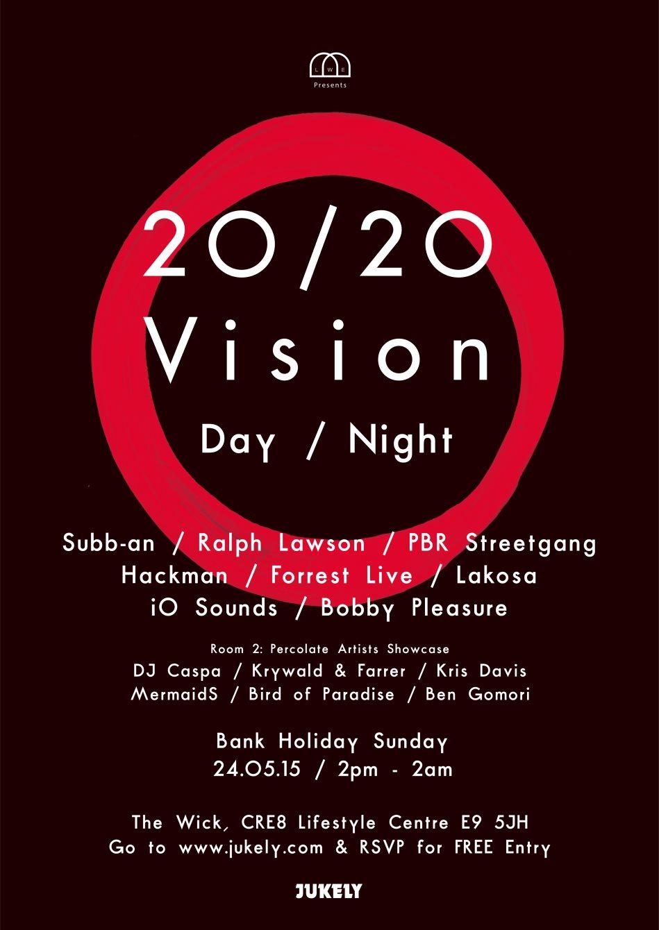 RA: LWE presents: 2020vision Day / Night: Subb-an, Ralph Lawson, PBR