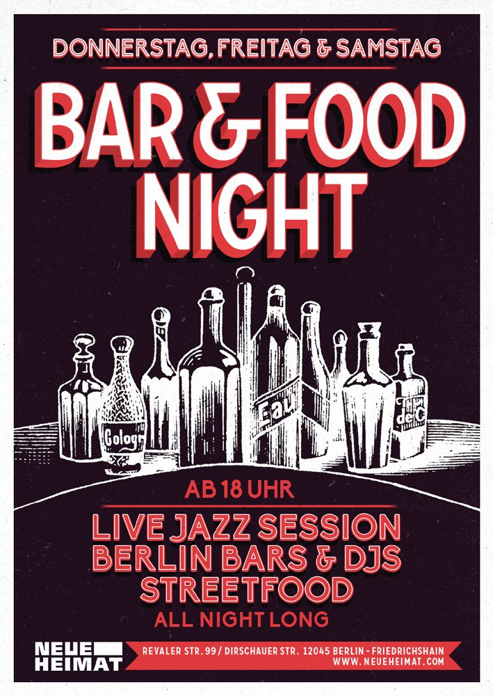Ra bar food night jazzy berlin jam session daniel w for Bar food night neue heimat