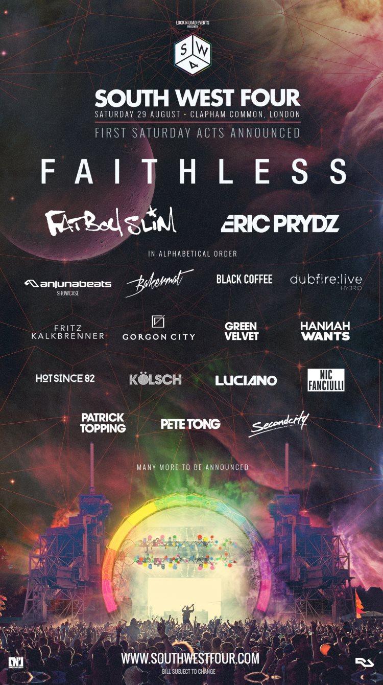 Faithless, Fatboy Slim, Eric Prydz headline Saturday at SW4 Uk-0829-683403-480088-back