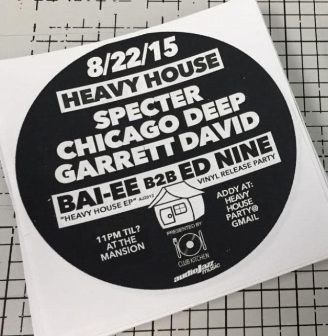 Ra heavy house udg release party at tba illinois for Deep house chicago